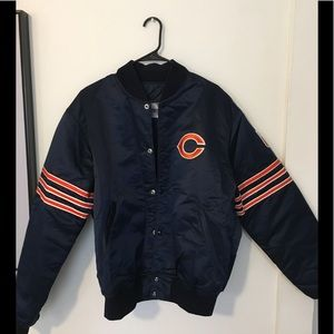 Pro-Line by Starter Chicago Bears Satin Bomber